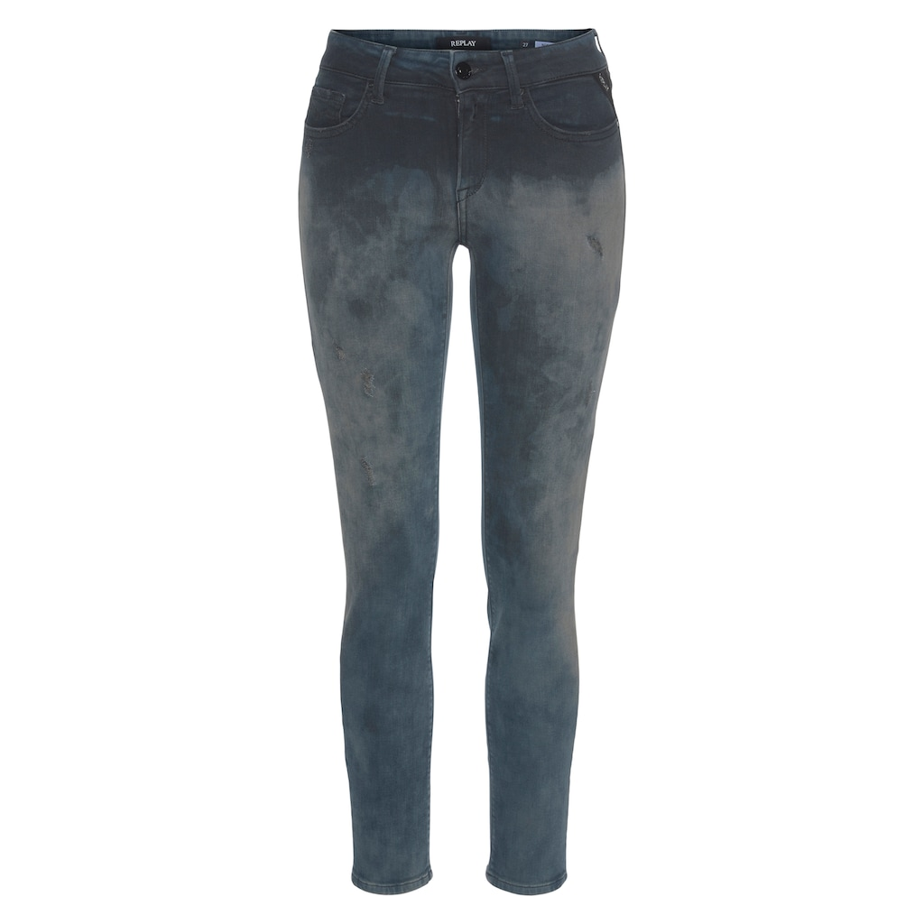 Replay Skinny-fit-Jeans »New Luz«, cooles Design - in verwaschener Optik