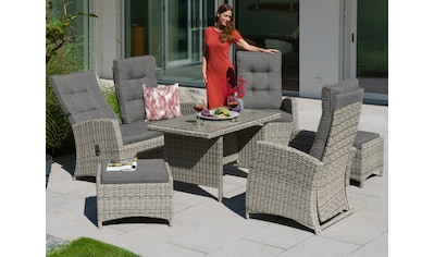 KONIFERA Gartenmöbelset »Monaco«, (16 tlg.), 2er Sofa, 2 Sessel, 2 Hocker, Tisch,... kaufen