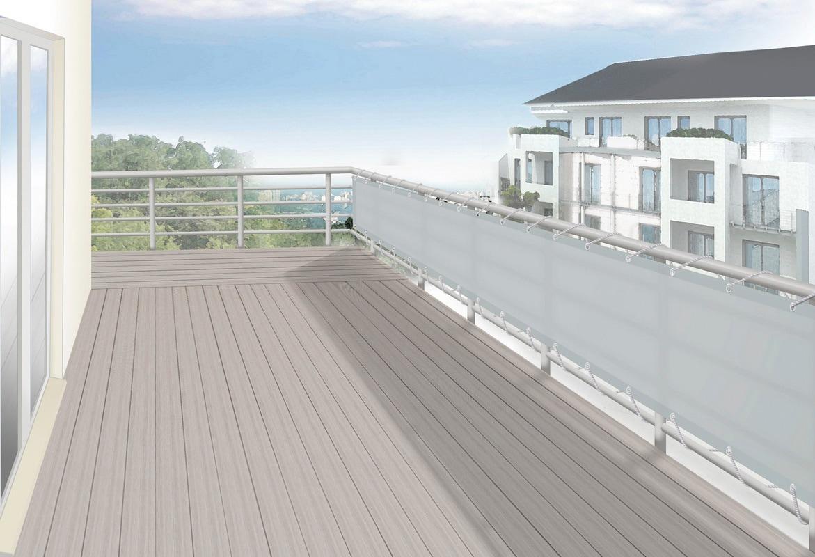 FLORACORD Balkonsichtschutz, BxH: 300x75 cm, silbergrau | Garten > Balkon > Sichtschutz | FLORACORD