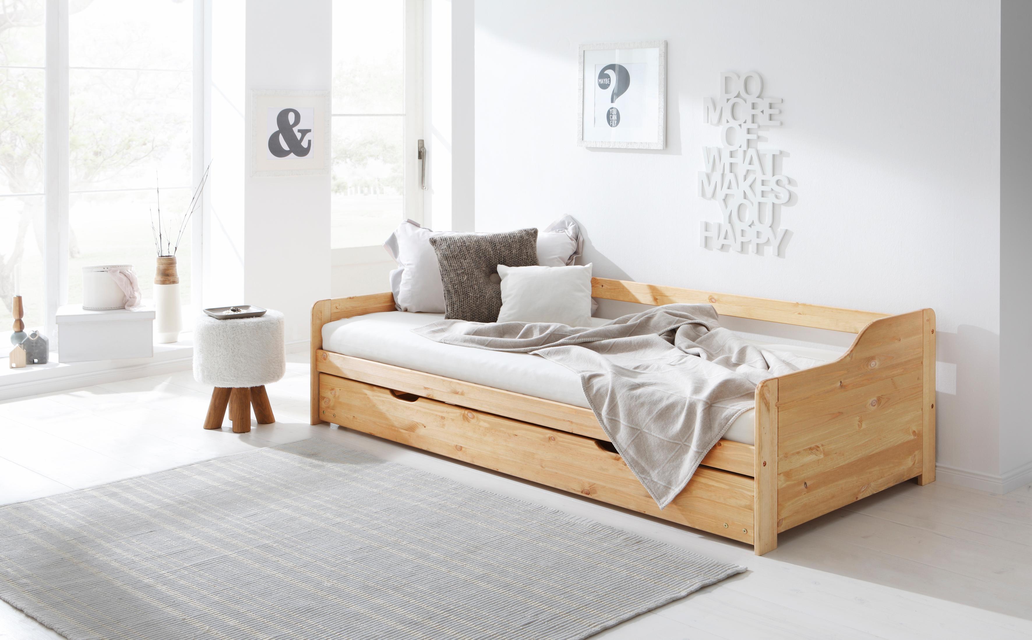 Home affaire Bett »Tim«, mit ausziehbarer Schublade für Zweitmatratze als Gästebett   Schlafzimmer > Betten > Gästebetten   home affaire