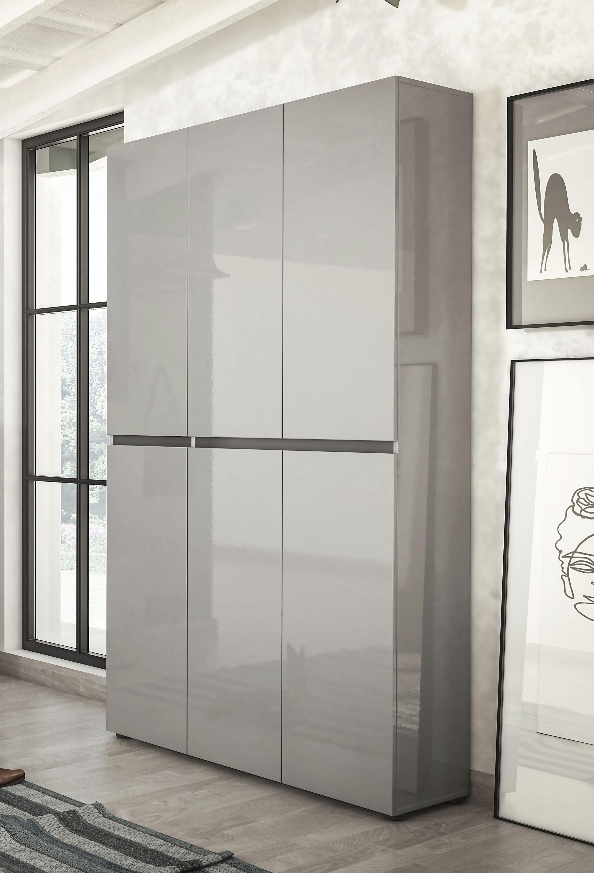 KITALY Schuhschrank »Mister«, Breite 120 cm, Höhe 200 cm, 6 Türen günstig online kaufen
