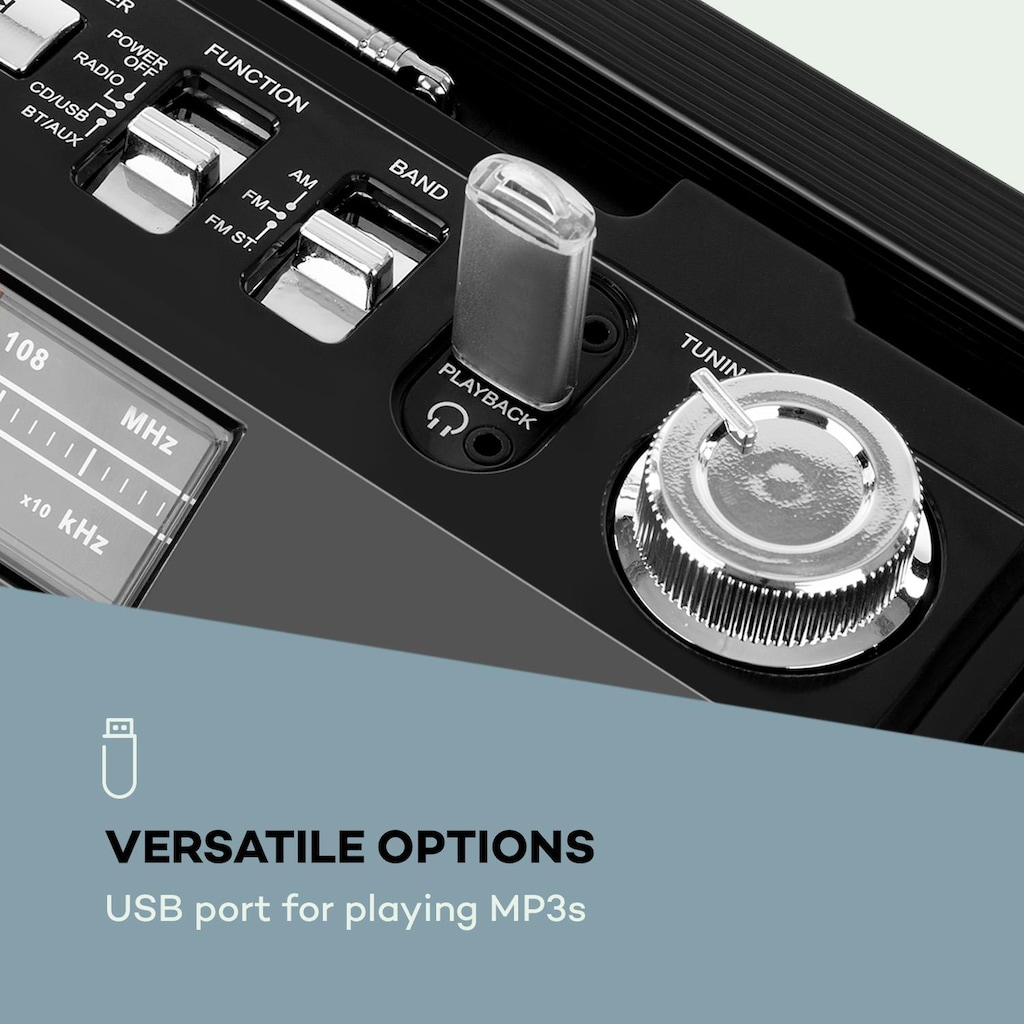 Auna Retro-Player CD BT USB MP3 UKW Teleskopantenne