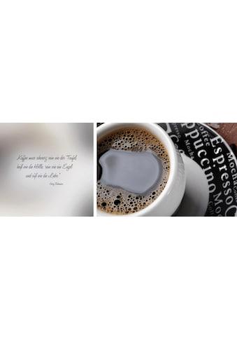 queence Leinwandbild »schwarzer Kaffee«, (Set), 2er-Set kaufen
