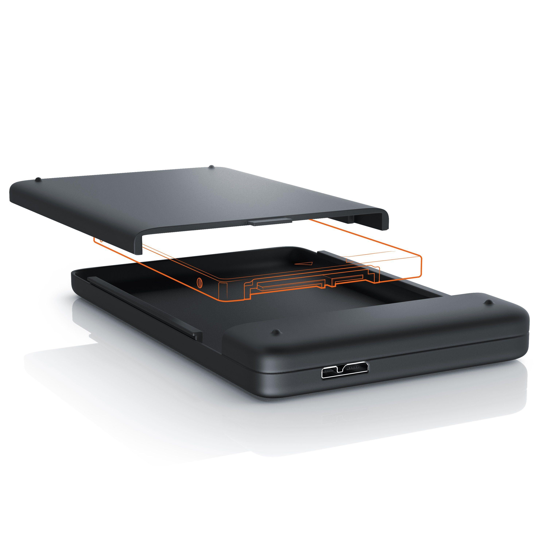 Aplic externes USB 3.0 Festplatten Case mit schraubenloser Montage »für 2,5´´ HDD/SDD Festplatten«