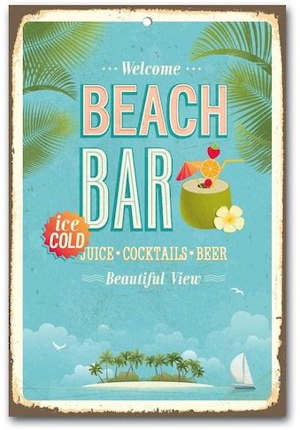 Home affaire Metallschild »Beach Bar«, Maße (B/H): ca. 30/45 cm kaufen