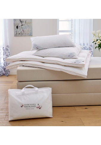 Bettdecke + Kopfkissen, »Magnolia«, Guido Maria Kretschmer Home&Living, (Spar - Set) kaufen