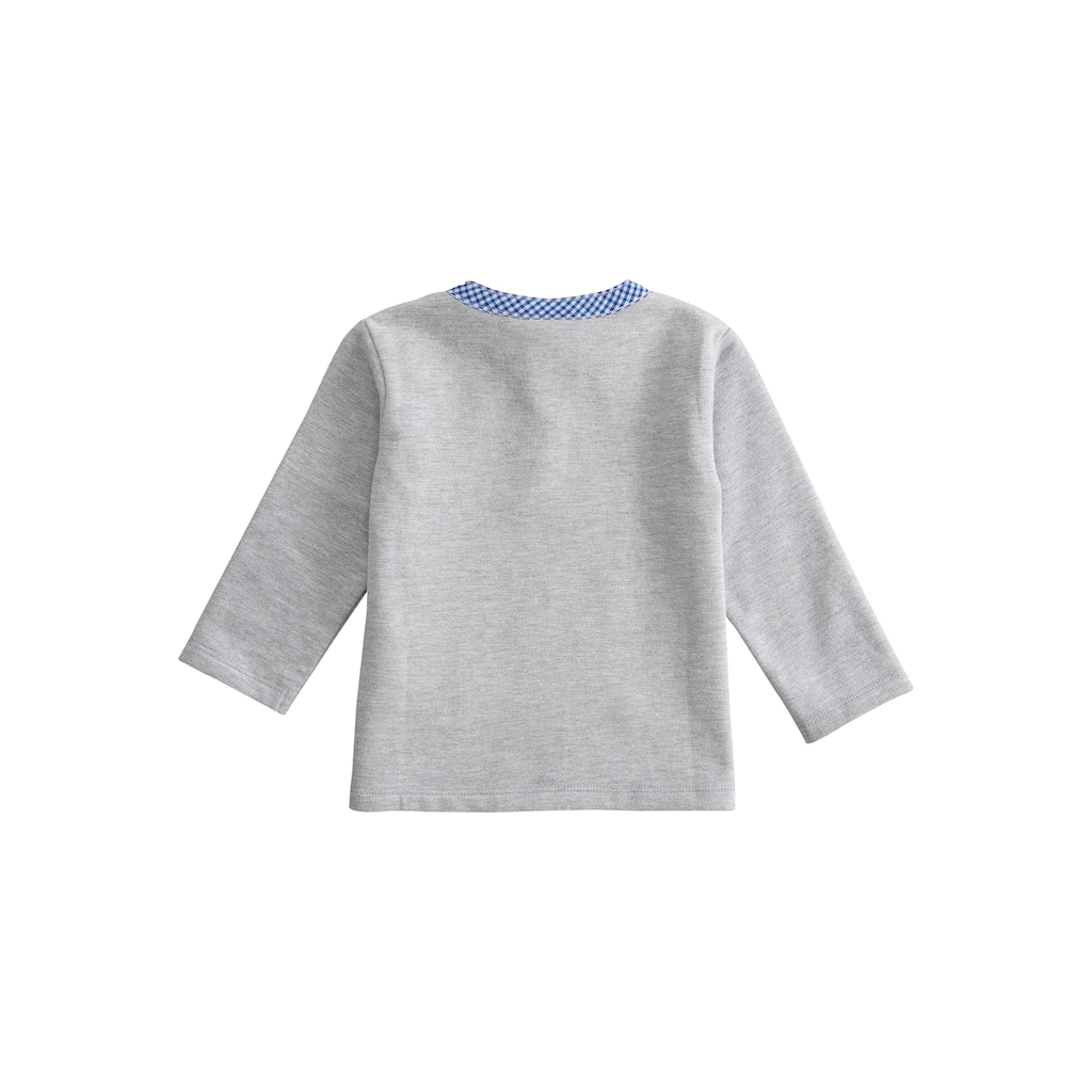 BONDI Trachtenshirt, mit cooler Hosenträger-Applikation
