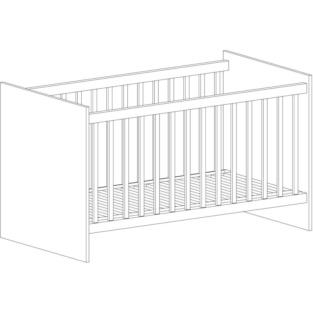arthur berndt Babyzimmer-Komplettset »Liene«, (Set, 3 St.), Made in Germany; mit Kinderbett, Schrank und Wickelkommode