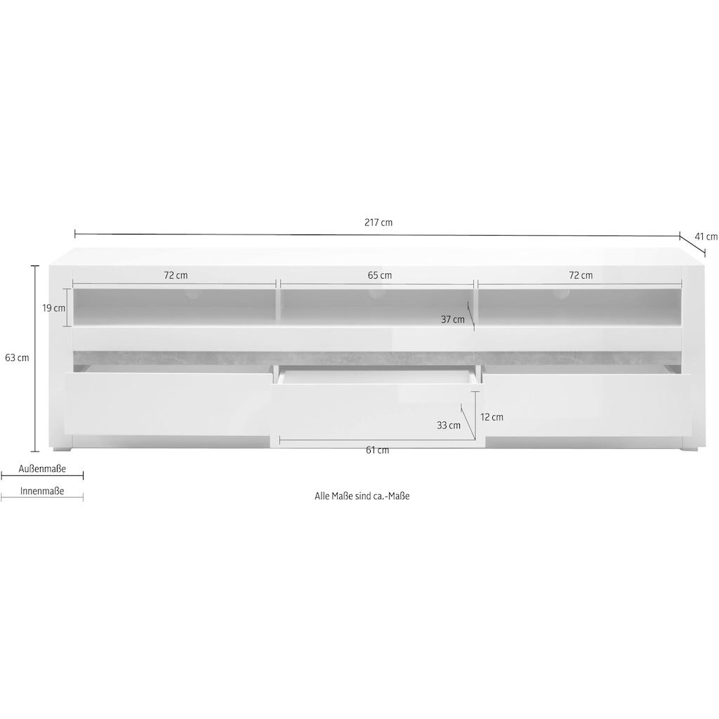 INOSIGN Lowboard »Carat«, Breite 217 cm