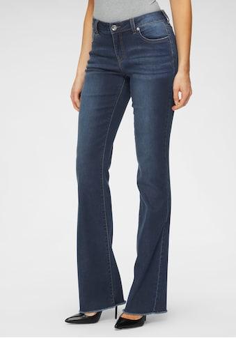 H.I.S Regular-fit-Jeans »Bootcut mit ausgefranstem Saum«, Nachhaltige, wassersparende... kaufen