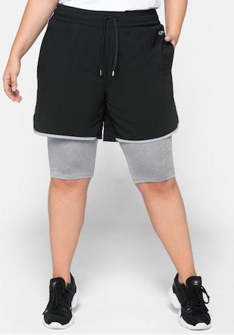 Sheego Funktionsshorts, mit angesetzten Leggings kaufen