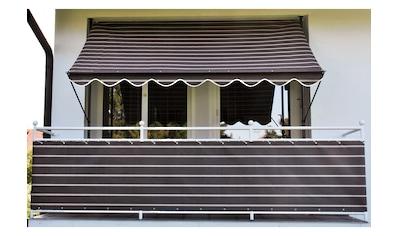 Angerer Freizeitmöbel Klemmmarkise, braun-weiß, Ausfall: 150 cm, versch. Breiten kaufen
