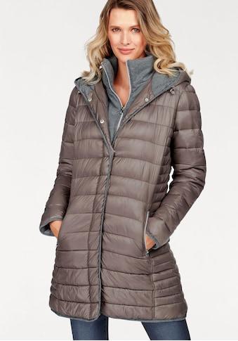 Aniston SELECTED Steppmantel, mit Kapuze und Stehkragen kaufen