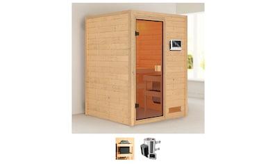 Karibu Sauna »Nastja«, 3,6-kW-Plug & Play Ofen mit externer Steuerung kaufen