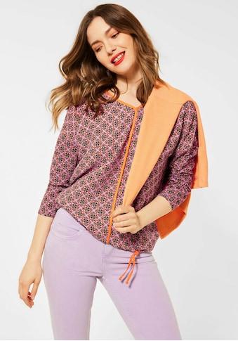 STREET ONE V-Shirt, mit kontrastfarbenem Besatz kaufen