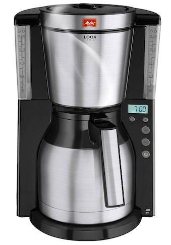 Melitta Filterkaffeemaschine Melitta Look Therm Timer 1011 - 16, Filterkaffeemaschine mit Thermkanne und Timerfunktion, Papierfilter 1x4 kaufen