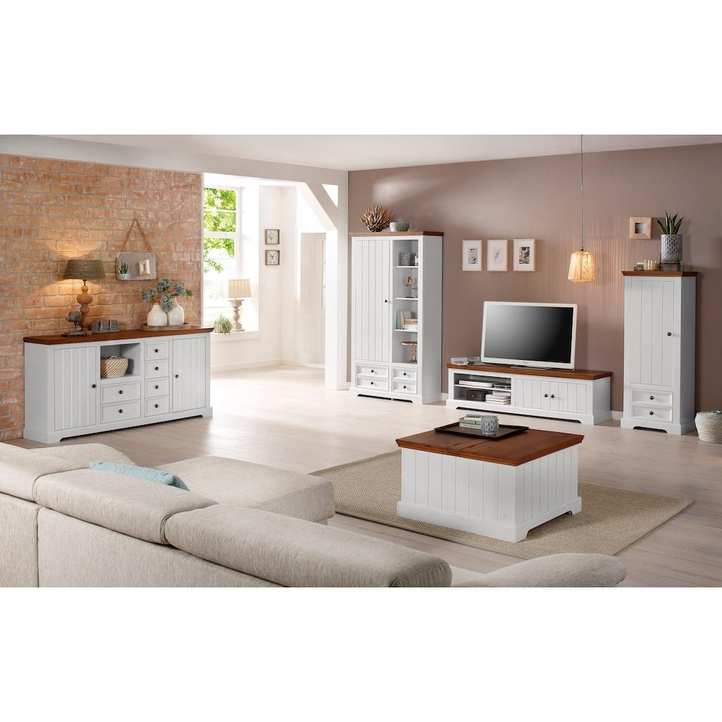 Home affaire Truhentisch »Athen«, mit zwei Klappen, aus massivem Kiefernholz, Breite 80 cm