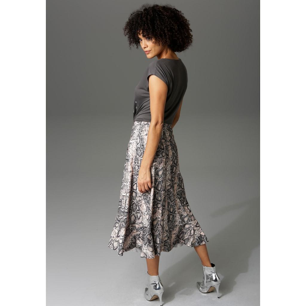 Aniston CASUAL Volantrock, mit trendigem Schlangenprint -