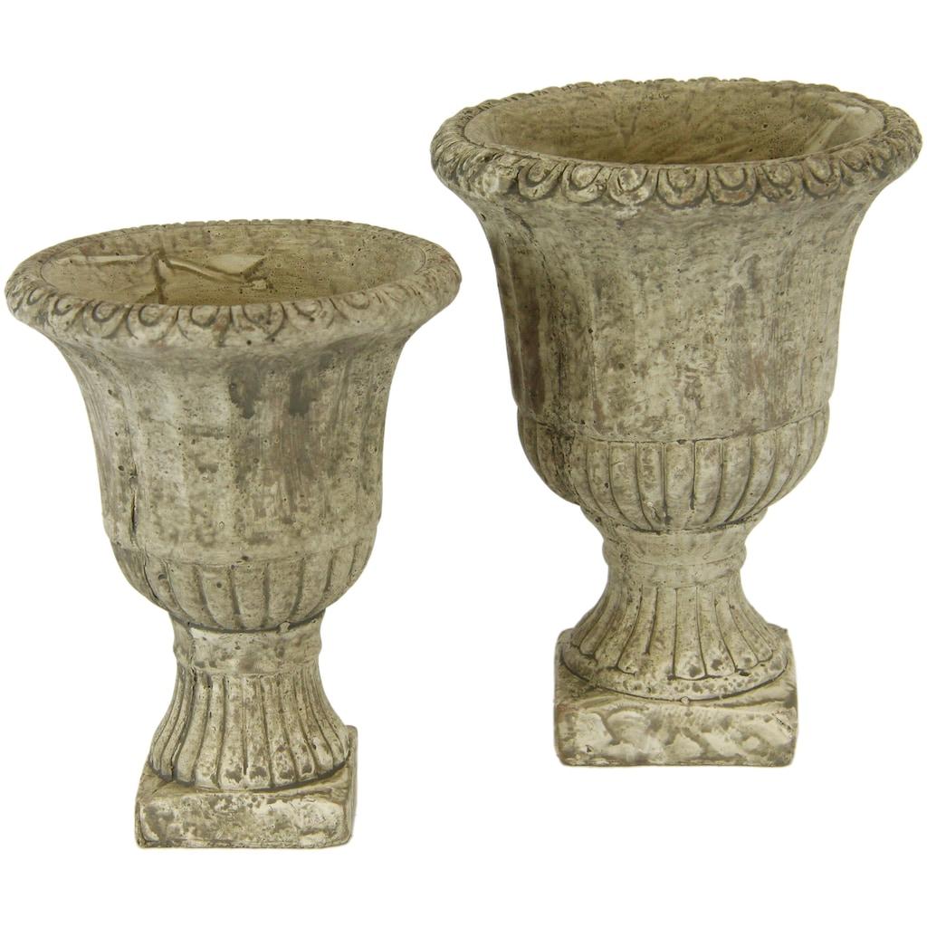 I.GE.A. Übertopf »Antik-Keramikpokal«, (Set, 2 St.)