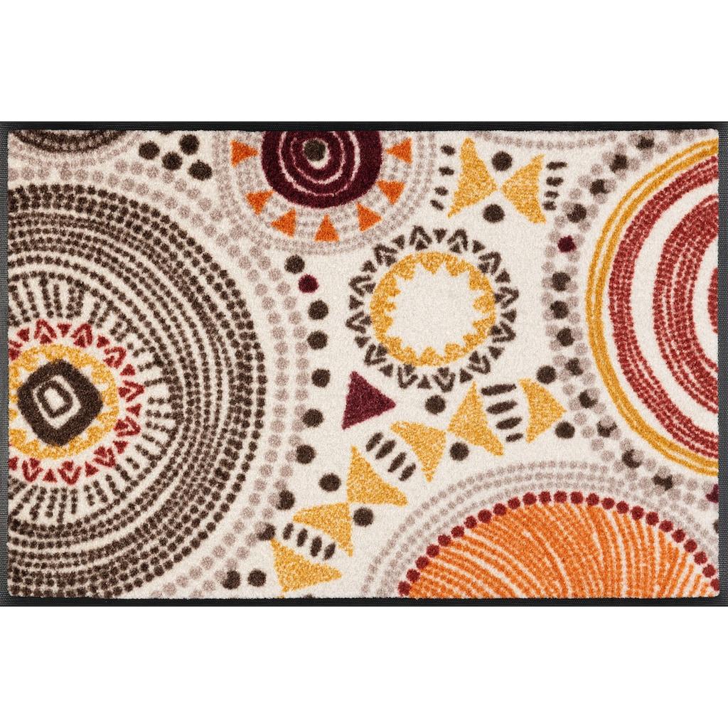 wash+dry by Kleen-Tex Fußmatte »Boho Style«, rechteckig, 7 mm Höhe, Schmutzfangmatte, In- und Outdoor geeignet, waschbar