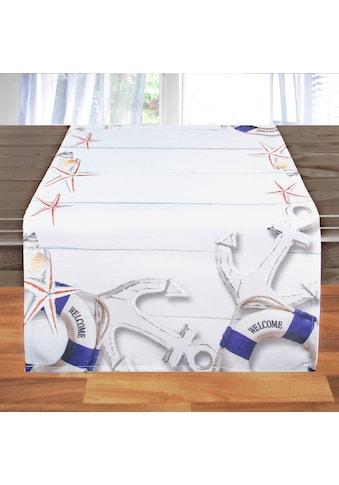 Delindo Lifestyle Tischläufer »ANKER«, Druckdesign, 185 g/m² kaufen