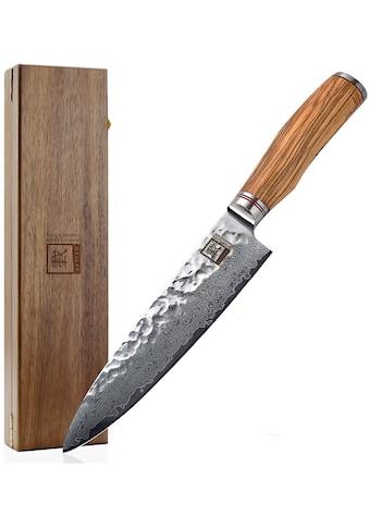 ZAYIKO Damastmesser, (1 tlg.), Klinge 20 cm, japanischer Damaststahl VG-10 kaufen