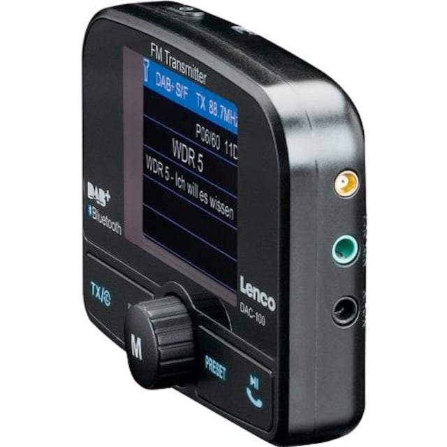 Lenco »DAC-100« Autoradio (Digitalradio (DAB+),FM-Transmitter,Automatische Senderverfolgung)
