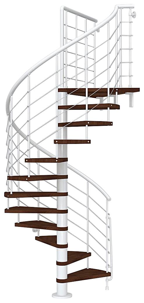 STARWOOD Spindeltreppe »Symphonie«, Ø: 120 cm, buchefarben dunkel/weiß | Baumarkt > Leitern und Treppen > Treppen | STARWOOD
