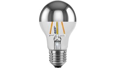 SEGULA LED-Leuchtmittel »Spiegelkopf«, E27, 1 St., Farbwechsler, LED Lampe Spiegelkopf, silberne LED, dimmbare LED, verspiegelte LED, dimmbares LED Leuchtmittel, warmweiß dimmbar, LED Leuchtmittel im Vintage Look, Ambient Dimming LED, LED Technik dimmbar, LED Glühlampe kaufen