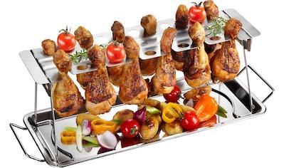 GEFU Servierplatte, (Hähnchenkeulen-Halter), BBQ kaufen