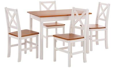 Home affaire Essgruppe, (Set, 5 St.), mit kleinem oder großem Tisch kaufen
