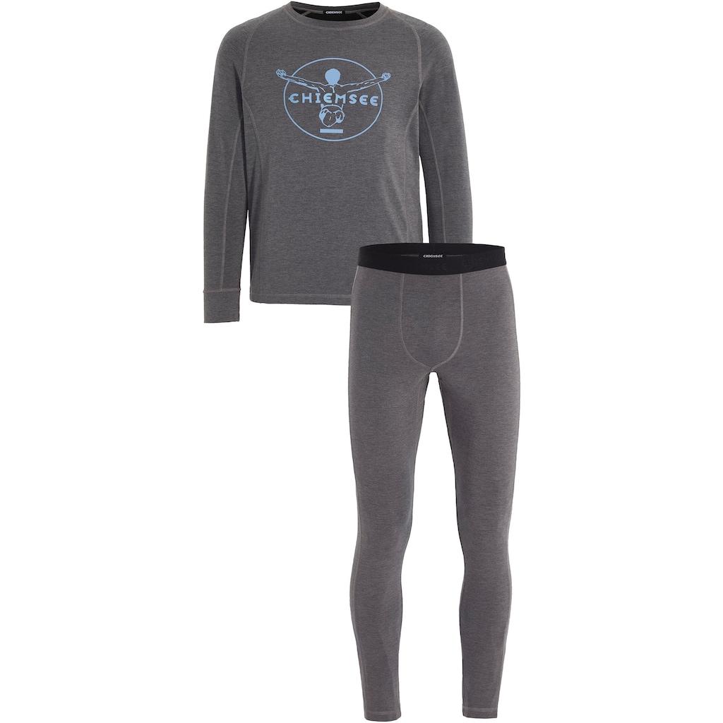 Chiemsee Thermounterhemd, (mit Thermounterhose), Skiunterwäsche-Set Herren