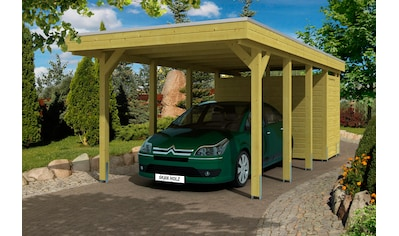 Skanholz Einzelcarport »Friesland«, Holz, 270 cm, grün, mit Abstellraum kaufen