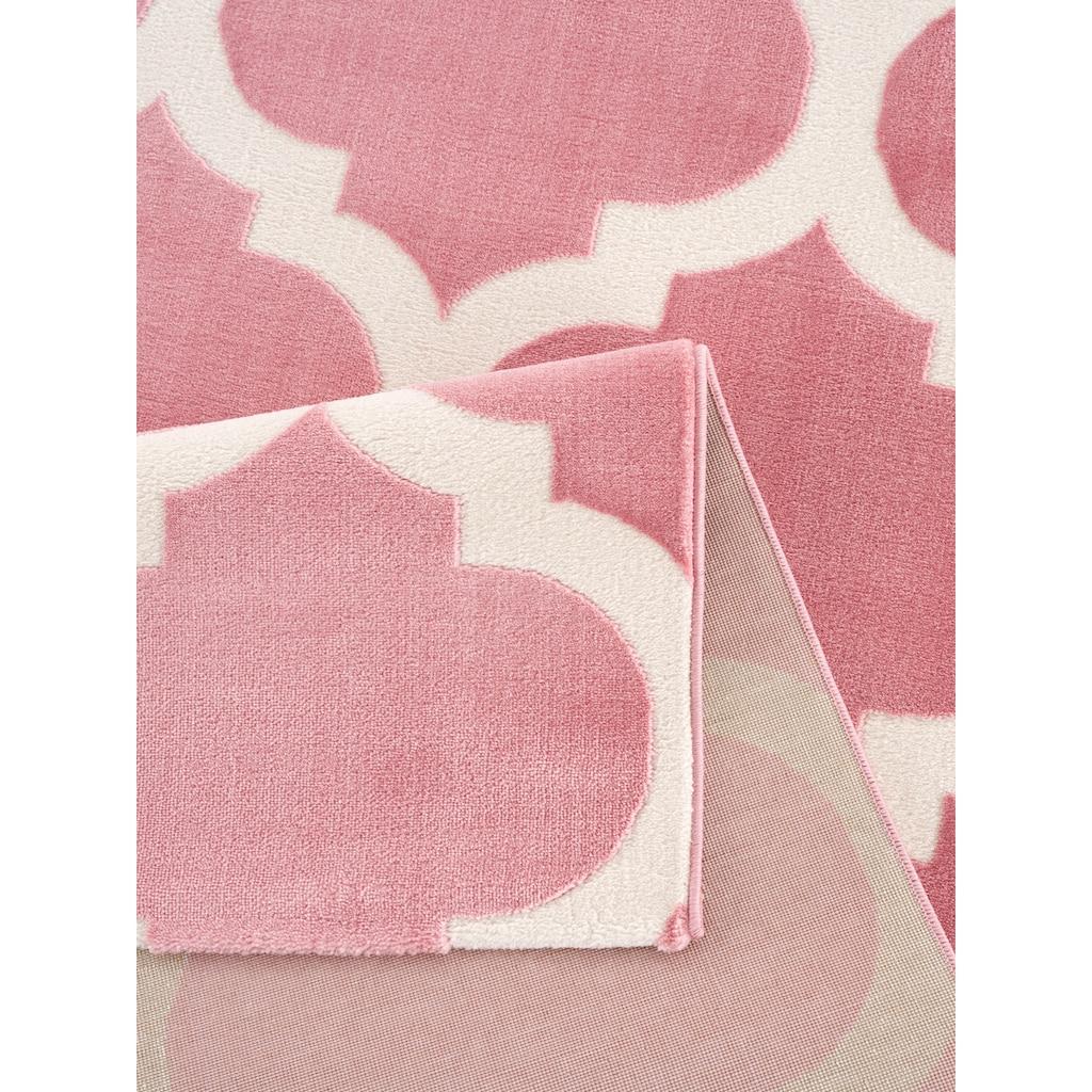 Home affaire Teppich »Fenris«, rechteckig, 12 mm Höhe, mit handgearbeitetem Konturenschnitt, Wohnzimmer