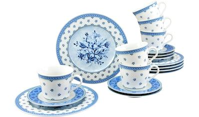 "CreaTable Kaffeeservice ""Country Blue"" (18 - tlg.), Porzellan kaufen"