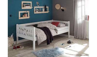 Einzelbett »Trevi«, aus massivem Kiefernholz kaufen