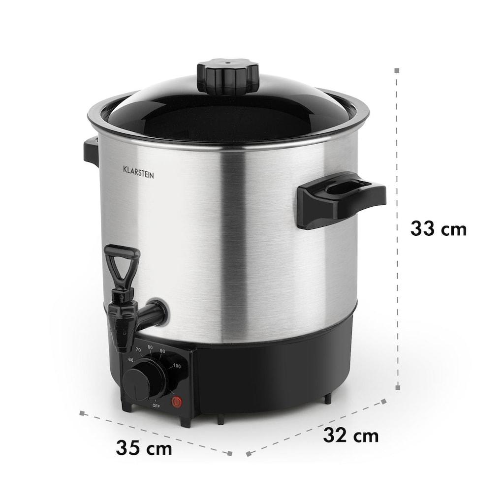 Klarstein Einkochautomat & Getränkespender 1000 W 30-100 °C Zapfhahn 9l