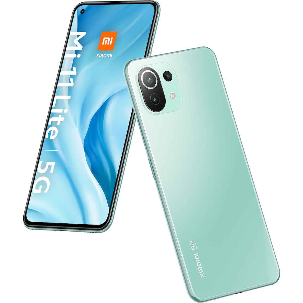 "Xiaomi Smartphone »Mi 11 Lite 5G«, (16,6 cm/6,55 "", 128 GB Speicherplatz, 64 MP Kamera)"