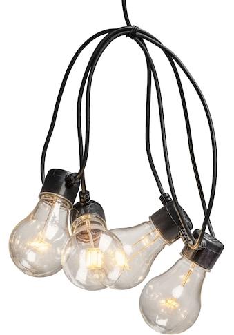 KONSTSMIDE LED-Lichterkette, 20 St.-flammig, LED Biergartenkette, 20 klare Birnen /... kaufen