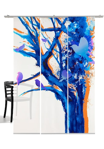 Schiebegardine, »Baum der Vögel«, emotion textiles, Klettband 3 Stück kaufen