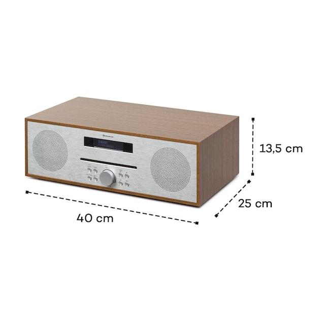 Auna CD-FM 2x20W max. Slot-In CD-Player UKW BT Alu »SilverStar«