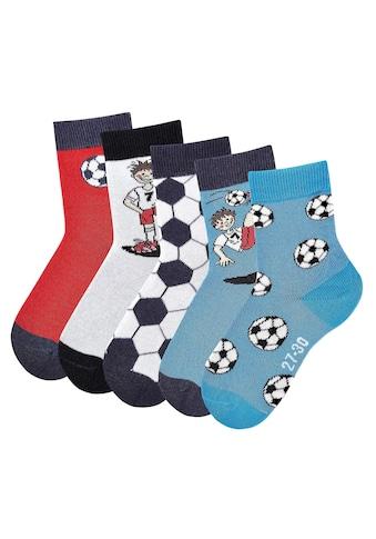 H.I.S Socken, (5 Paar), mit Fußballmotiven kaufen