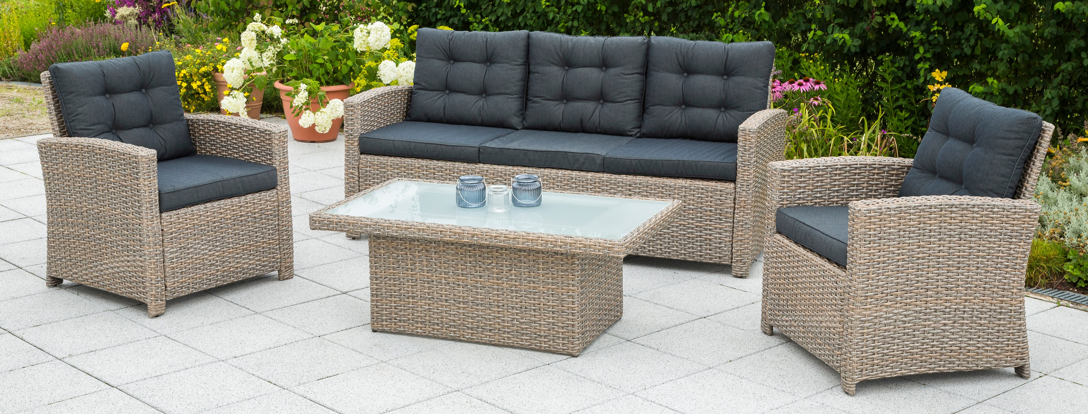 Natur Polyrattan Gartenmöbel Set Online Kaufen Möbel Suchmaschine