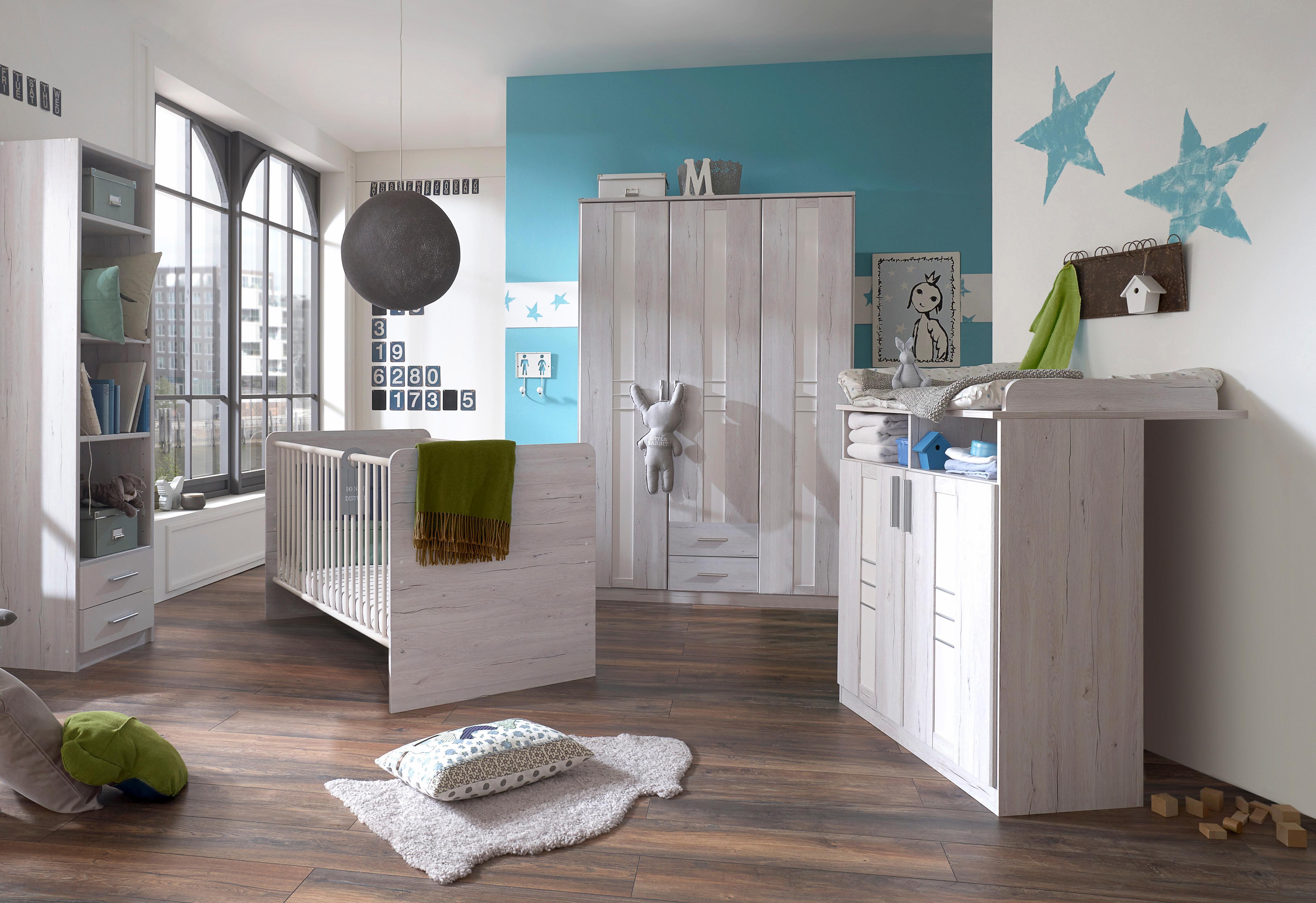 Komplett Babyzimmer »Pellworm« Babybett + Wickelkommode + großer ...