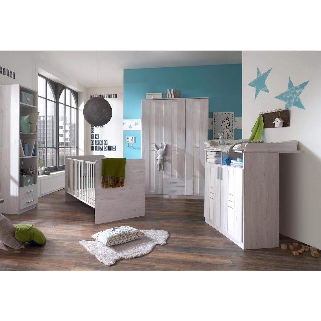 Babyzimmer-Komplettset »Pellworm«, (Set, 3 tlg.), Bett + Wickelkommode + 3 trg. Schrank