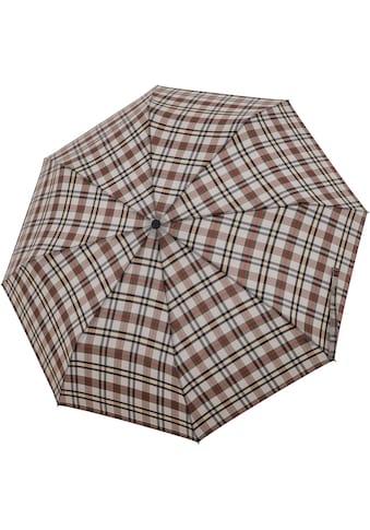 doppler® Taschenregenschirm »Carbonsteel Magic, Karo Beige« kaufen