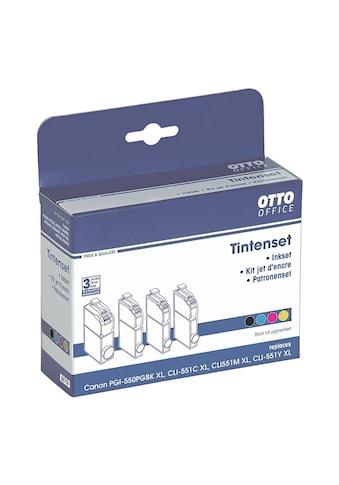Otto Office Tintenpatronen - Set ersetzt Canon »PGI - 550PGBK XL & CLI - 551CMY XL« kaufen
