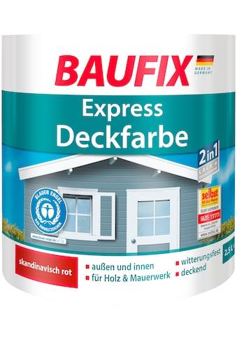 Baufix Lack »Express Deckfarbe«, 2,5 Liter, rot kaufen