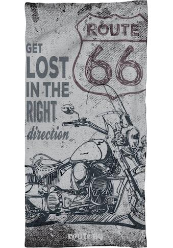 Route 66 Strandtuch »The old highway«, (1 St.), mit Motorrad kaufen