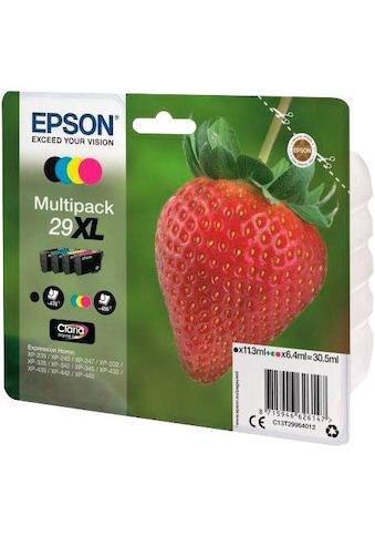 Epson »T2996, 29XL Original Kombi - Pack Schwarz, Cyan, Magenta, Gelb C13T29964012« Tintenpatrone kaufen